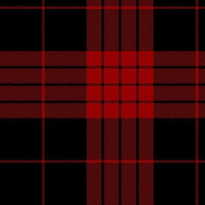 Cameron black and red tartan variant, 6""