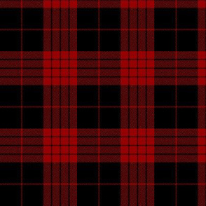 Cameron black and red tartan variant, 3""