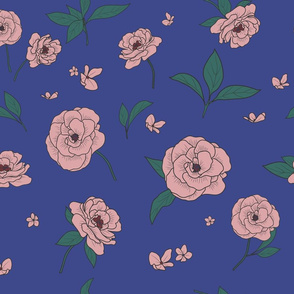 Sublimated Flowers_Blue