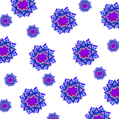 purple blue snowflakes