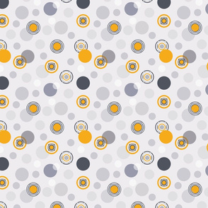 Gold and grey geometric pattern