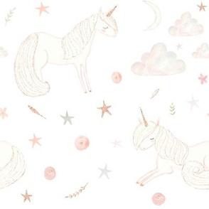 """8"""" Good Night Unicorn // White"""