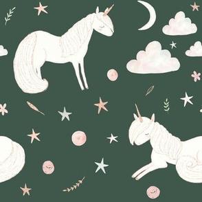 """8"""" Good Night Unicorn // Mineral Green"""