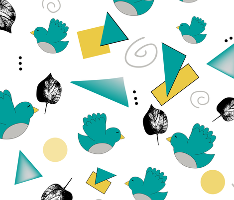 OhBabyBirds_Shapes fabric by tiffanie_lloyd_designs on Spoonflower - custom fabric