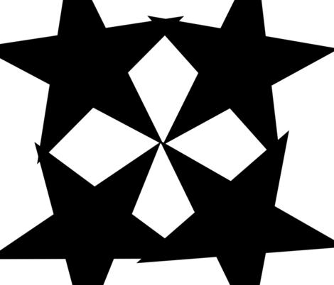 Starsquare fabric by applestarcreations on Spoonflower - custom fabric