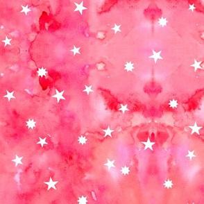 Star sky in pink watercolors