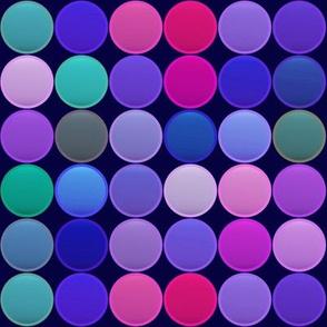 MULTICOLORES CIRCLES PAVEMENT BLUE PURPLE PINK