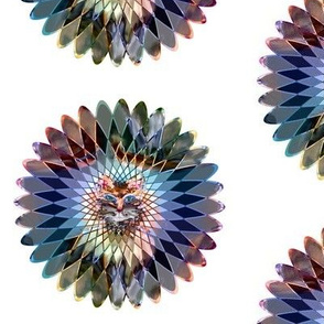 mandala indian spirograph wild feline colors