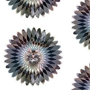mandala indian spirograph wild feline earth tones