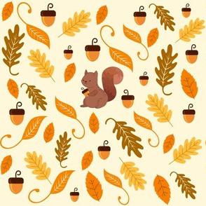 Autumn Acorn Squirrel  Wonderland