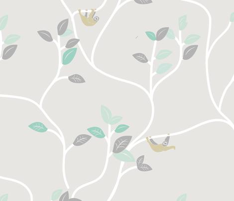 Sloth fabric by ebygomm on Spoonflower - custom fabric
