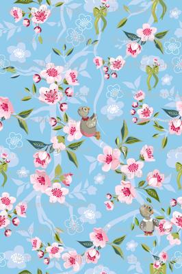 Cherry Blossom-Baby Owl Nursery