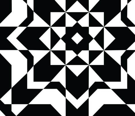 Bold Black and White Geometric Seamless Pattern fabric by designtherapy on Spoonflower - custom fabric