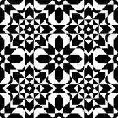 Bold Black and White Geometric Seamless Pattern
