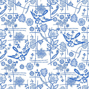 chinoiserie roses asian w birds