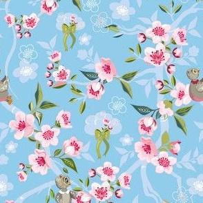 Cherry Blossom Owl 6x9