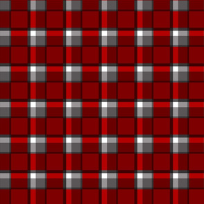 Red Gray and White Plaid