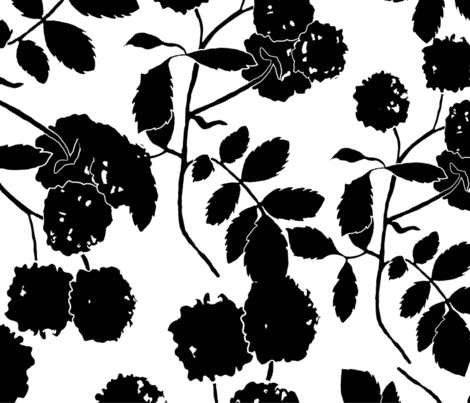 large scale black and white-01 fabric by audie_rose on Spoonflower - custom fabric