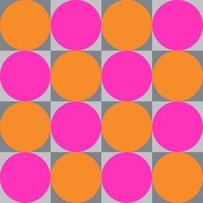 Blocks - bright pink and orange