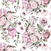 Botanical Roses Pink