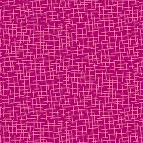 Sketchy Mesh of Rosy Pink on Fuchsia