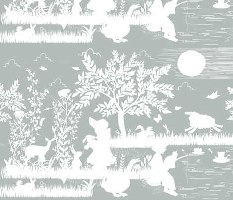 Mother Goose Nursery Rhymes fabric by cacostadesign on Spoonflower - custom fabric