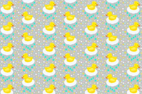Duckies in the clouds fabric by everhigh on Spoonflower - custom fabric