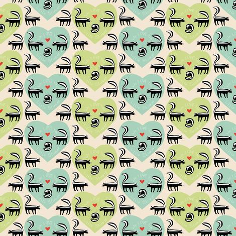 We LOVE you little stinker_©Solvejg Makaretz fabric by solvejg on Spoonflower - custom fabric