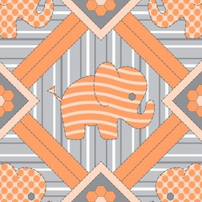 Quilted Pachyderms (apricot)