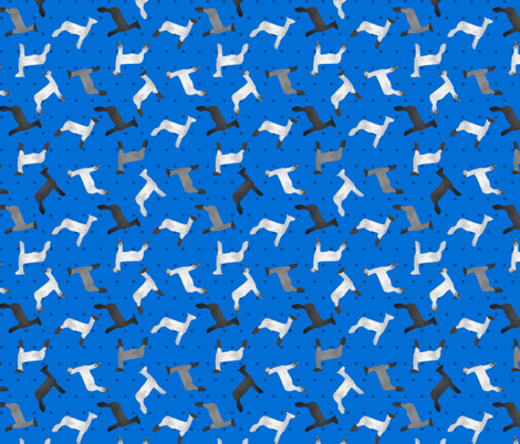 Sheep Mixed Breed blue Polkadot fabric by thecraftyblackbird on Spoonflower - custom fabric