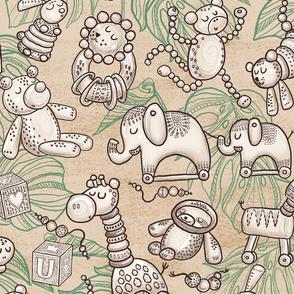 Jungle Wooden Toys (organic beige) XL