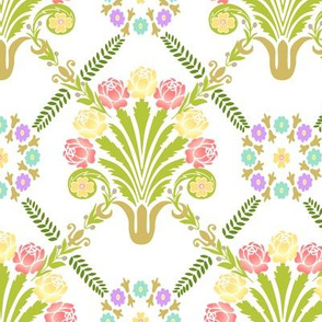 Antique Floral French Design White
