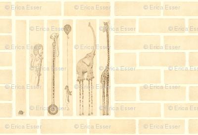 Safari Follow-The-Leader with brick-large