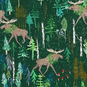 Noël Moose (green) MED