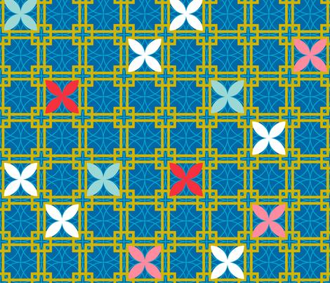 Chinese Lattice CW4 fabric by lalalamonique on Spoonflower - custom fabric