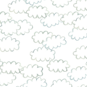 Simple Painted Clouds