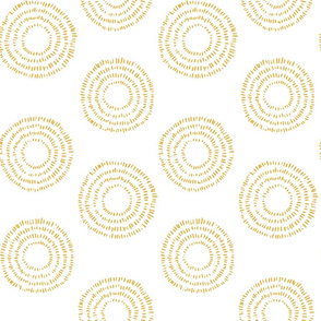 Concentric Circles in Mustard
