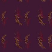 Happy Birds filler two leaves deepest purple