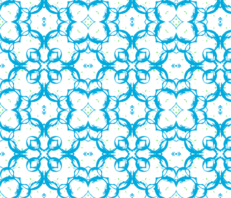 blue and green circles fabric by cleamadethis on Spoonflower - custom fabric