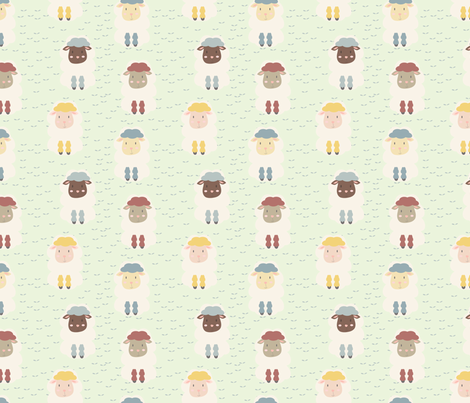 COLOR LAMBS fabric by susanaroyodesigns on Spoonflower - custom fabric