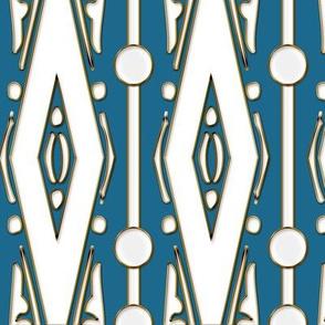 White Diamonds on Lapis Blue