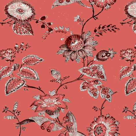 French and Indian Pompeii Rose fabric by amyvail on Spoonflower - custom fabric