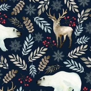 Deer and bear