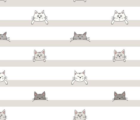 peekaboo kittens fabric by vivdesign on Spoonflower - custom fabric