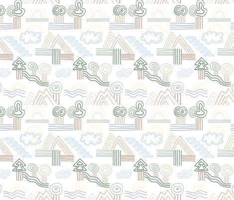 SWEET LANDSCAPE fabric by cosy_lines on Spoonflower - custom fabric