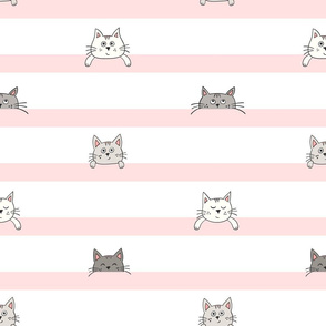 peekaboo kittens - light peach
