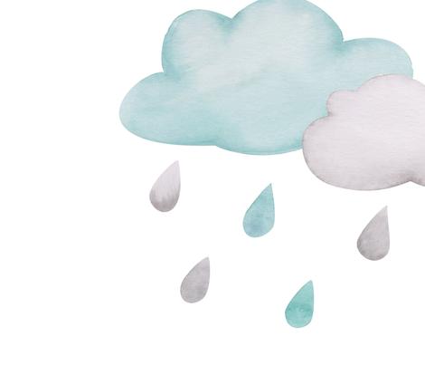 Rainy Days Wallpaper fabric by christelleheyns on Spoonflower - custom fabric