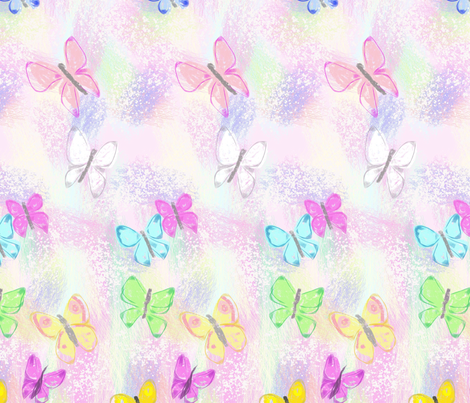 butterflies fabric by palusalu on Spoonflower - custom fabric