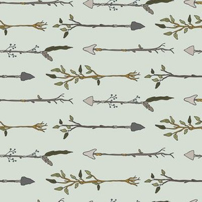Twiggy Arrows, Uneven - Pale Seaspray