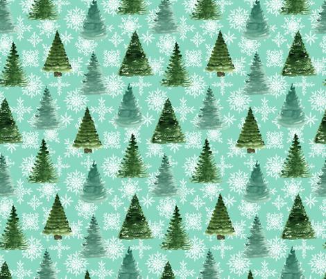 Christmas tree fabric by juliabadeeva on Spoonflower - custom fabric